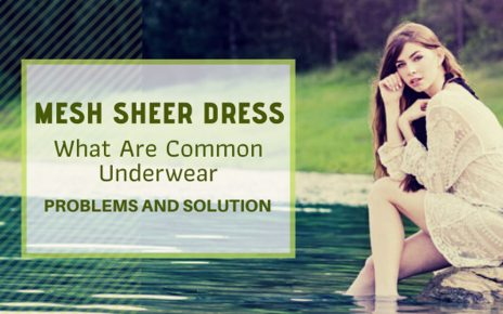 Mesh Sheer Dress: Common Underwear Problems and Solution