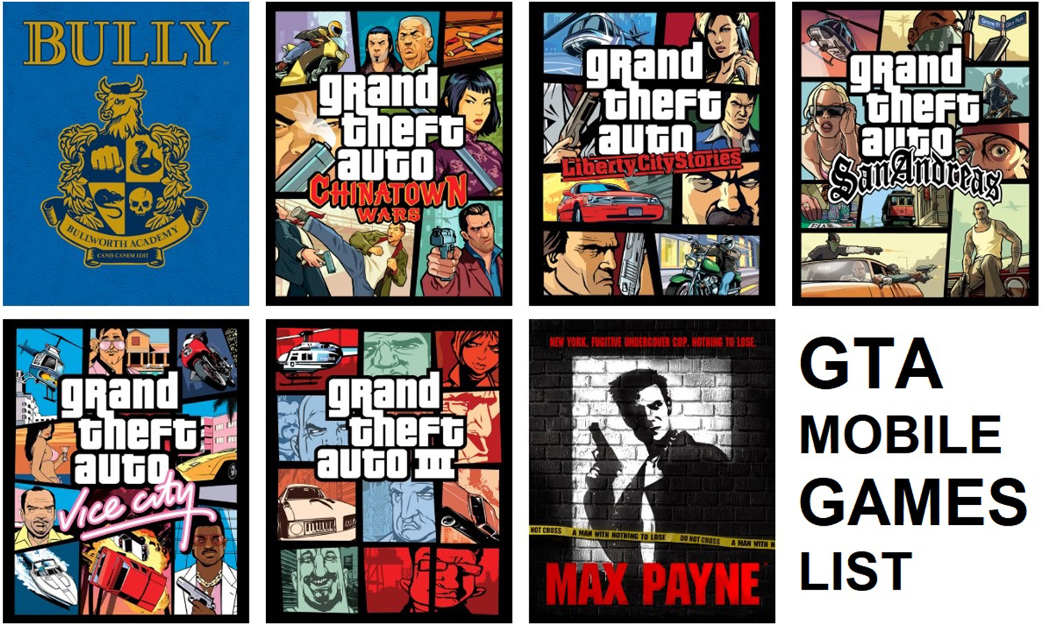 Rockstar Games All Mobile List