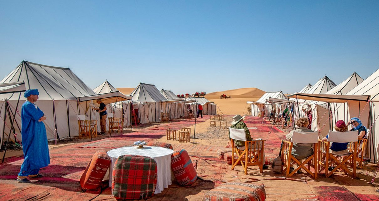 Winter break camping in the Sahara Desert